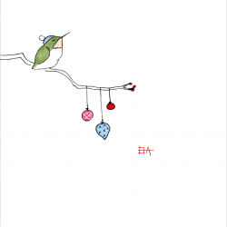 Hummingbird-on-Tree-with-frame