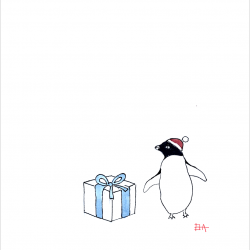 Penguin-with-Gift-Box-with-frame