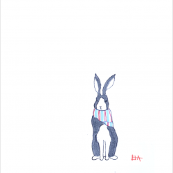Rabbit-with-Scarf-with-frame