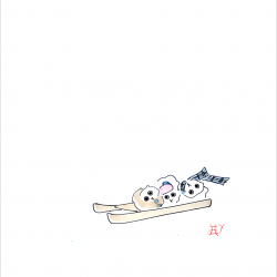 Three-Owls-Sledging-with-frame
