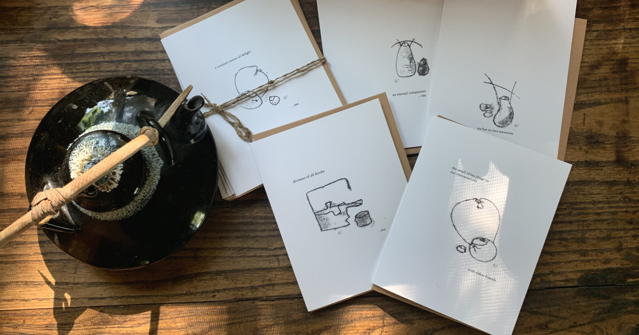 Greeting Cards with Teapots